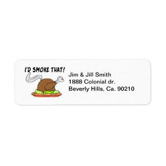 Ich würde diese Türkei rauchen