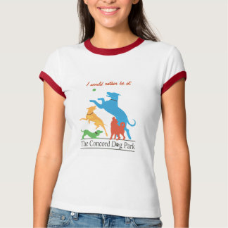 Ich würde eher am Übereinstimmungs-Hundepark sein! T-Shirt