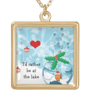 Ich würde eher an der See-Haustier-Fisch-Halskette Vergoldete Kette