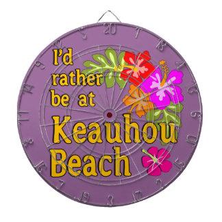 Ich würde eher an Keauhou Strand, Hawaii sein Dartscheibe