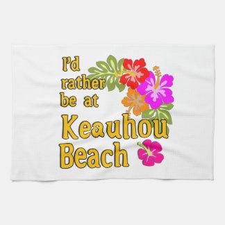 Ich würde eher an Keauhou Strand, Hawaii sein Küchenhandtücher