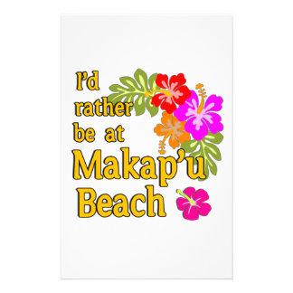Ich würde eher an Makap'u Strand, Hawaii sein Bedrucktes Papier