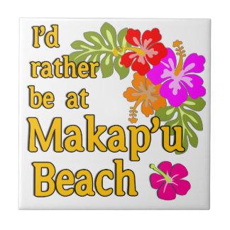 Ich würde eher an Makap'u Strand, Hawaii sein Kleine Quadratische Fliese