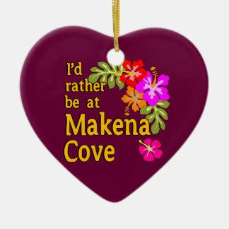 Ich würde eher an Makena Bucht Hawaii sein Keramik Herz-Ornament