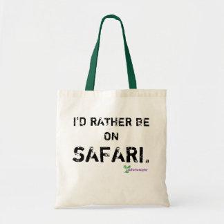 """""""Ich würde eher auf Safari"""" Tasche sein"""