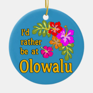 Ich würde eher bei Olowalu Hawaii sein Rundes Keramik Ornament