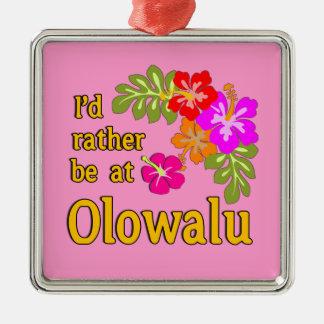 Ich würde eher bei Olowalu Hawaii sein Quadratisches Silberfarbenes Ornament