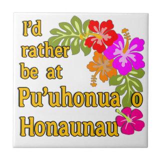 Ich würde eher bei Pu'uhonua O Honaunau, Hawaii Kleine Quadratische Fliese