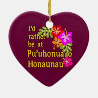 Ich würde eher bei Pu'uhonua O Honaunau, Hawaii Weihnachtsbaum Ornamente