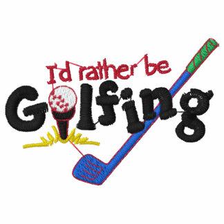 Ich würde eher das Golf spielen gestickt sein Polo Hemd