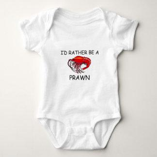 Ich würde eher eine Garnele sein Baby Strampler