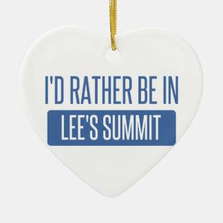 Ich würde eher im Gipfel des Lees sein Keramik Ornament