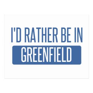Ich würde eher im Greenfield sein Postkarte