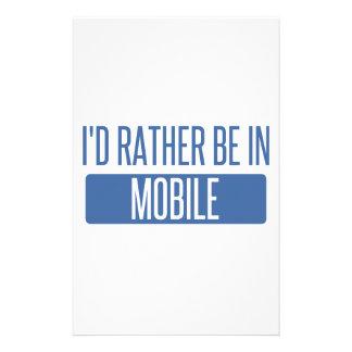 Ich würde eher im Mobile sein Briefpapier