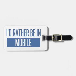 Ich würde eher im Mobile sein Gepäckanhänger