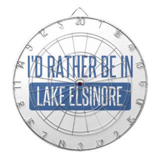 Ich würde eher im See Elsinore sein Dartscheibe