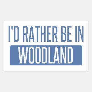 Ich würde eher im Waldland sein Rechteckiger Aufkleber
