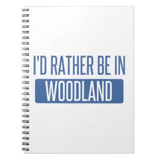 Ich würde eher im Waldland sein Spiral Notizblock