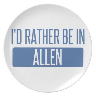 Ich würde eher in Allen sein Flache Teller
