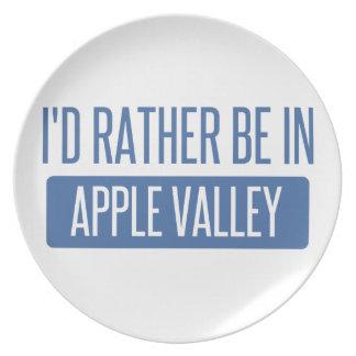 Ich würde eher in Apple-Tal Mangan sein Flache Teller