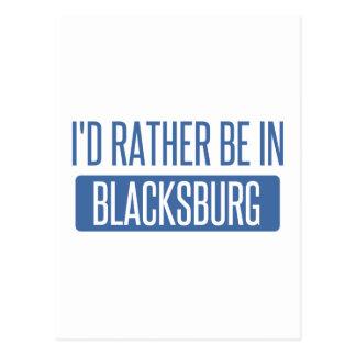 Ich würde eher in Blacksburg sein Postkarte