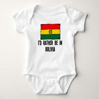 Ich würde eher in Bolivien sein Baby Strampler