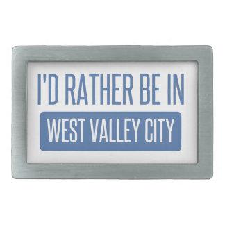 Ich würde eher in der Westtal-Stadt sein Rechteckige Gürtelschnalle