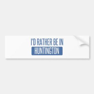 Ich würde eher in Huntington Beach sein Autoaufkleber