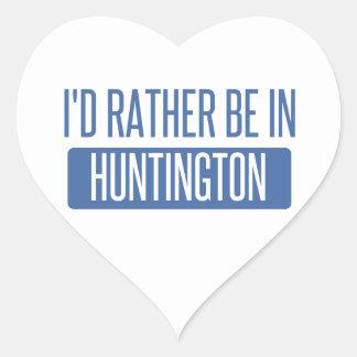 Ich würde eher in Huntington Beach sein Herz-Aufkleber