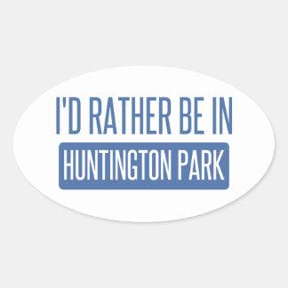 Ich würde eher in Huntington-Park sein Ovaler Aufkleber
