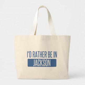 Ich würde eher in Jackson Mitgliedstaat sein Jumbo Stoffbeutel