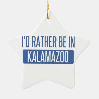 Ich würde eher in Kalamazoo sein Keramik Ornament