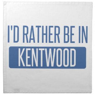 Ich würde eher in Kentwood sein Stoffserviette