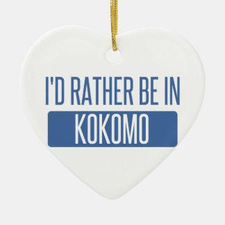 Ich würde eher in Kokomo sein Keramik Ornament