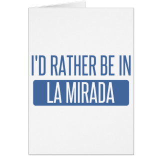 Ich würde eher in La Mesa sein Karte