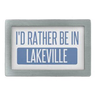 Ich würde eher in Lakeville sein Rechteckige Gürtelschnalle