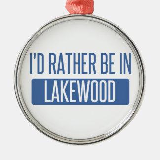 Ich würde eher in Lakewood OH- sein Silbernes Ornament