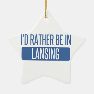 Ich würde eher in Lansing sein Keramik Ornament