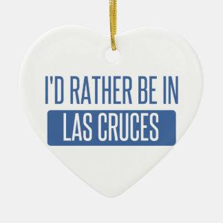 Ich würde eher in Las Cruces sein Keramik Herz-Ornament