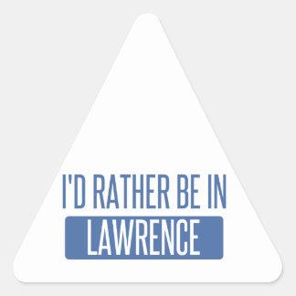 Ich würde eher in Lawrence HEREIN sein Dreieckiger Aufkleber