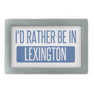 Ich würde eher in Lexington sein Rechteckige Gürtelschnalle
