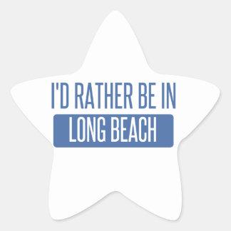 Ich würde eher in Long Beach CA sein Stern-Aufkleber