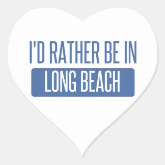 Ich würde eher in Long Beach NY sein Herz-Aufkleber