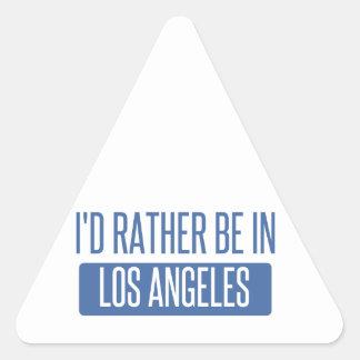 Ich würde eher in Los Angeles sein Dreieckiger Aufkleber