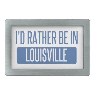 Ich würde eher in Louisville sein Rechteckige Gürtelschnalle