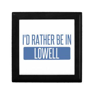 Ich würde eher in Lowell sein Schmuckschachtel