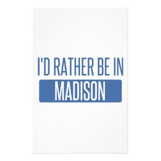 Ich würde eher in Madison-AL sein Briefpapier