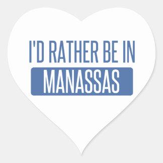 Ich würde eher in Manassas sein Herz-Aufkleber