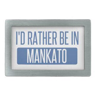 Ich würde eher in Mankato sein Rechteckige Gürtelschnalle