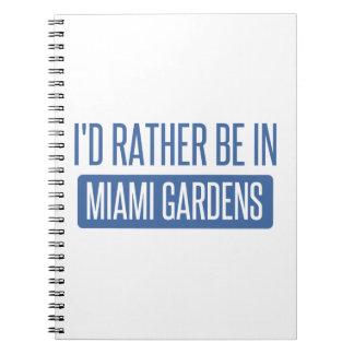 Ich würde eher in Miami-Gärten sein Notizblock